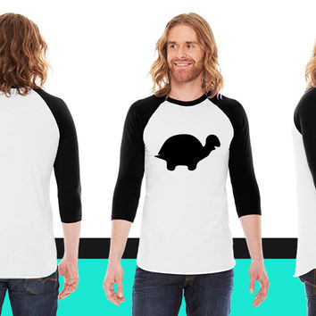 Turtle American Apparel Unisex 3/4 Sleeve T-Shirt