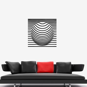Wall Decal Optical Illusion Geometric Figure Sphere Vinyl Sticker (ed1133)