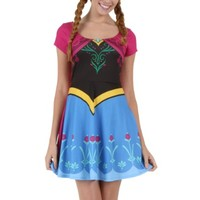 Womens I am Anna Frozen Costume Dress