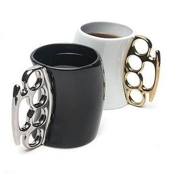 Boxing Style Ceramic Morning Mugs