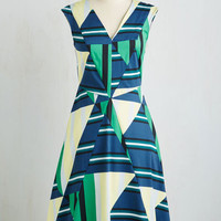 Closet Long A-line Addition and Abstraction Dress