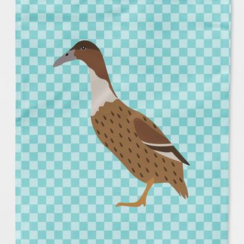 Dutch Hook Bill Duck Blue Check Flag Canvas House Size BB8035CHF