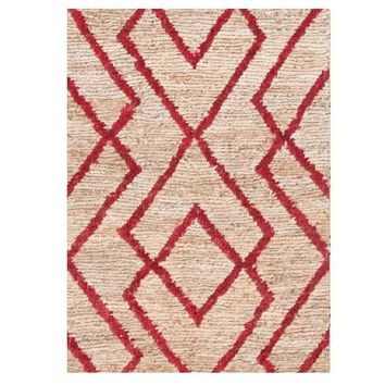 Bunny Williams | Marco Red Jute Soumak Woven Rug