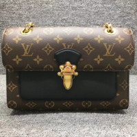 LV Louis Vuitton Shoulder Bag Old Fashioned Leather Chain Handbag
