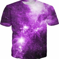 Purple Clouds Rolling Through Space [NGC-2264] | Universe Galaxy Nebula Star Space Clothes | Rave & Festival Shirt