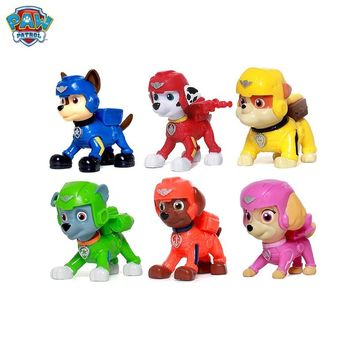 Paw patrol Puppy space rescue series mini Dog Anime Toys Figurine Toy Action Figure model patrulla canina kids Children Gifts