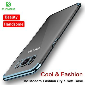 FLOVEME Fashion Case For Samsung Galaxy S8/S8 Plus Case Light Luxury 3D Plating Mobile Phone Case Cover