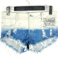 DISTRESSED DENIM SHORTS| RADDICALTOPS