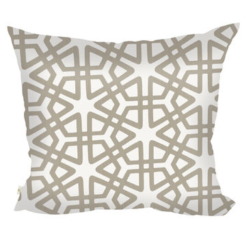 Geom Decorative Pillow Covers Collection  Off-White, Square Set of 2.