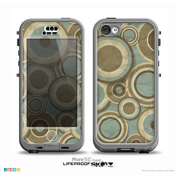 The Blue and Green Overlapping Circles Skin for the iPhone 5c nüüd LifeProof Case
