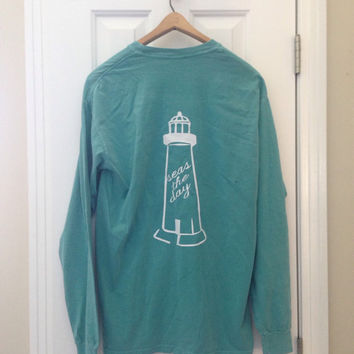 Seas The Day Long-Sleeve Original Lighthouse Tee