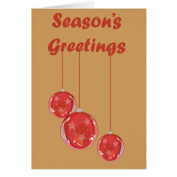 Greetings / Christmas Card - Seasons Greetings