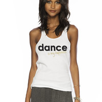 Dance is My Happiness Tank Top SIZE MEDIUM