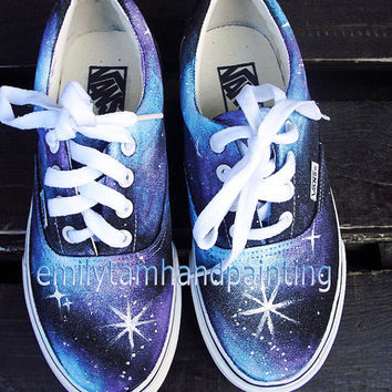 Galaxy Shoes-Galaxy Vans Sneakers