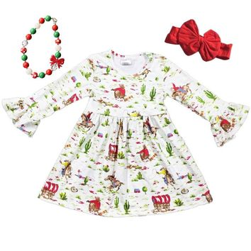 Country Christmas Dress Cactus