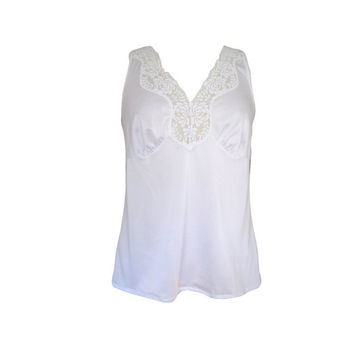 White Satiny Lace Babydoll Camisole Size Medium