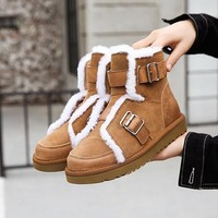 UGG new ladies snow boots fashion personalized motorcycle boots