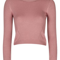 Wool Mix Crop Top - Topshop