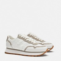 LEATHER SNEAKERS - Sneakers-WOMAN-SHOES | ZARA United States