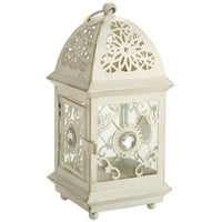 Mini Jeweled Lantern - White