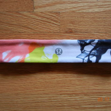 RARE Lululemon NO-SLIP LUON Headband UNICORN TEARS