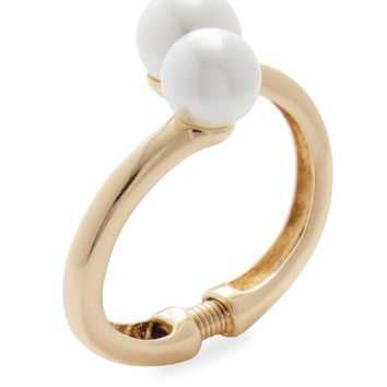 Kenneth Jay Lane Women's Cultura Faux Pearl Statement Bracelet - Gold
