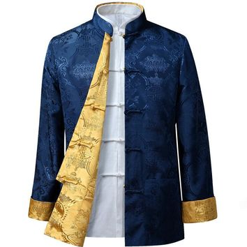 chinese style man jacket Typical fsashion customized men outerwear HY001