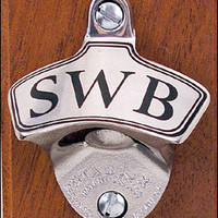 Personalized Stainless Steel Bottle Opener - Best Man Gift - Traditional Wall Mount