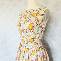 Koi Dress - Japanese Inspired, Spoonflower Print, Elegant, Formal, Fish,