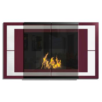 Decoflame Ambiance UL Listed Recessed/Wall Mounted Ethanol Fireplace (AM-105A)