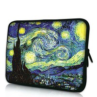 Elonbo Starry Night 13-13.3 Inch Waterproof Neoprene Sleeve Case Bag / Notebook Computer Case / Briefcase Carrying Bag / Ultrabook Laptop Bag Case / Pouch Cover for Apple MacBook Pro 11.3-inch with Retina Display / MacBook Air 13.3-inch / ASUS Chromebook H