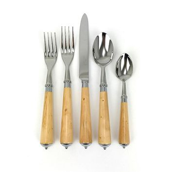 Julia Boxwood stainless steel 5-piece place setting