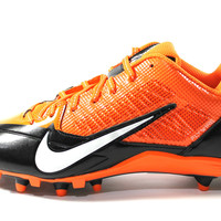 Nike Men's Alpha Pro TD PF Orange/Black Football Cleats 618055 807