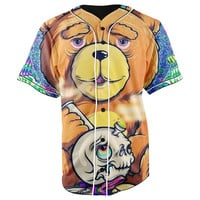 Stoner Ted Brown Button Up Baseball Jersey