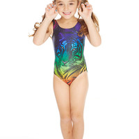 Kids Rainbow Tiger Sport One Piece