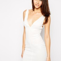Oh My Love | Oh My Love Plunge Body-Conscious Dress with Side Strap Detail at ASOS