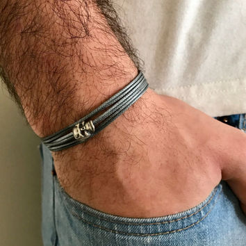 Men's Bracelet - Men's Skull Bracelet - Men's Jewelry - Men's Gift - Boyfriend Gift - Husband Gift - Present For Men - Male Jewelry - Guys