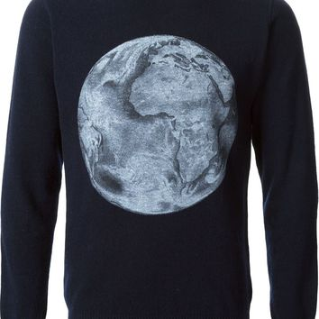 Soulland planet print sweater