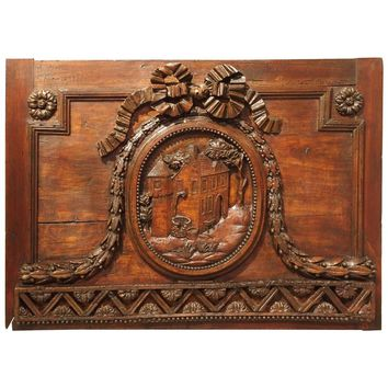 18th Century Carved Boiserie Panel from France