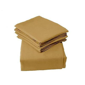Regal Comfort Bamboo Luxury 2100 Series Hotel Quality Sheet Queen Camel