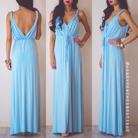 Love Never Ends Maxi Dress - Baby Blue