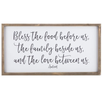 Bless The Food Wood Wall Decor | Hobby Lobby | 1465608