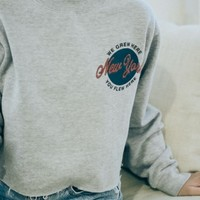 NANCY NY GLOBE SWEATSHIRT