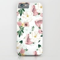 Vintage Floral iPhone & iPod Case by Julia Aguiar