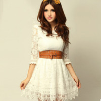 New sweet lady floral lace skirt LYQ0124