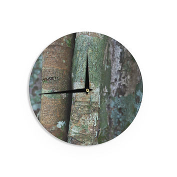 "Susan Sanders ""Into the Woods"" Brown Rustic Wall Clock"