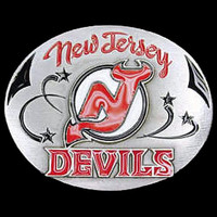 New Jersey Devils NHL Enameled Belt Buckle