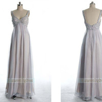 Graceful Beaded Full length Chiffon Prom by KianaEveningDress