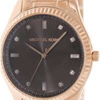 Michael Kors Mid-Size Rose Golden Stainless Steel Blake Three-Hand Women's watch #MK3227