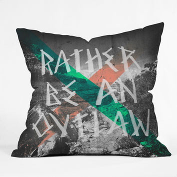 Wesley Bird Rather Be An Outlaw Throw Pillow
